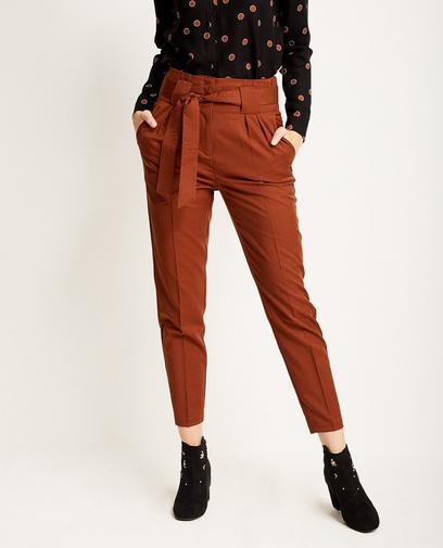 Paperbag waist broek